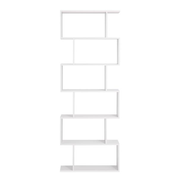 Regál/knihovna LBC61 bílá 3