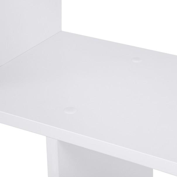 Regál/knihovna LBC61 bílá 8