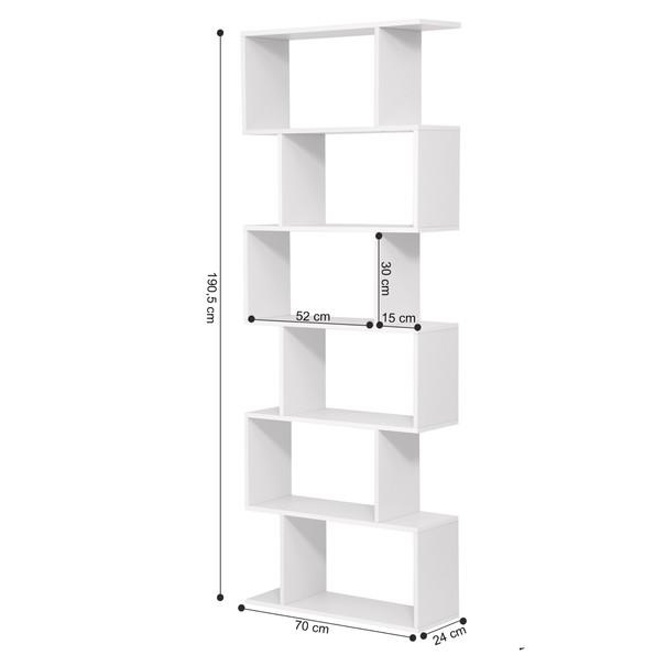 Regál/knihovna LBC61 bílá 12
