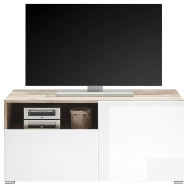 TV stolek LE MANS bílá/old style 1