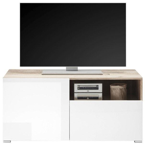 TV stolek LE MANS bílá/old style 2