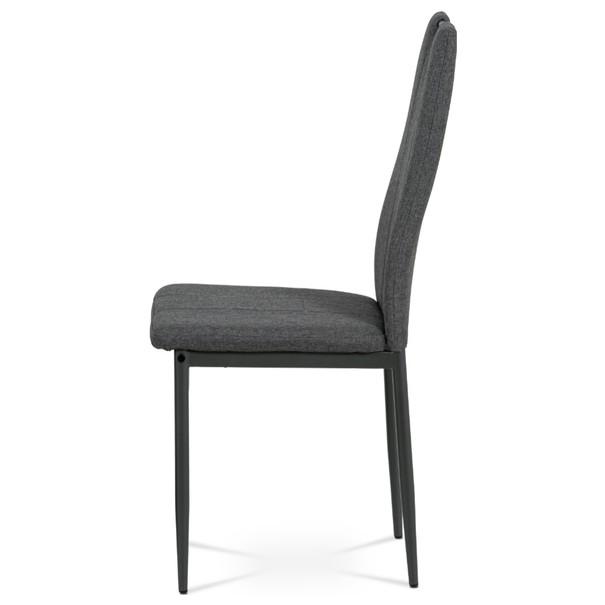 Jídelní židle LEILA šedá/antracitová 3