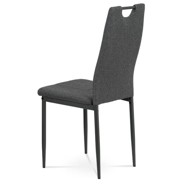 Jídelní židle LEILA šedá/antracitová 4