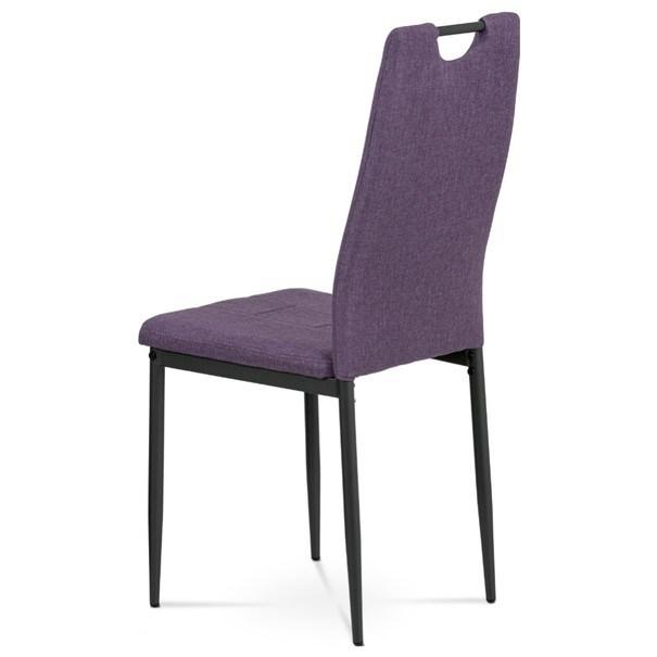Jídelní židle LEILA fialová/antracitová 4