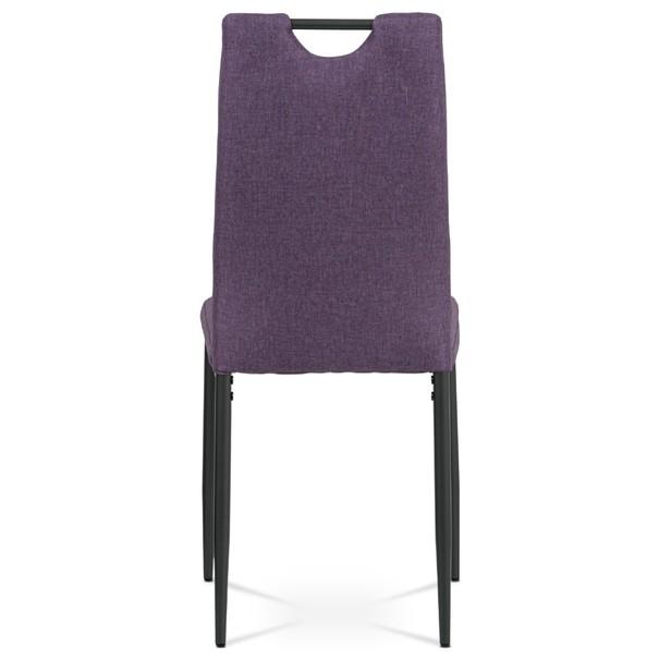Jídelní židle LEILA fialová/antracitová 5