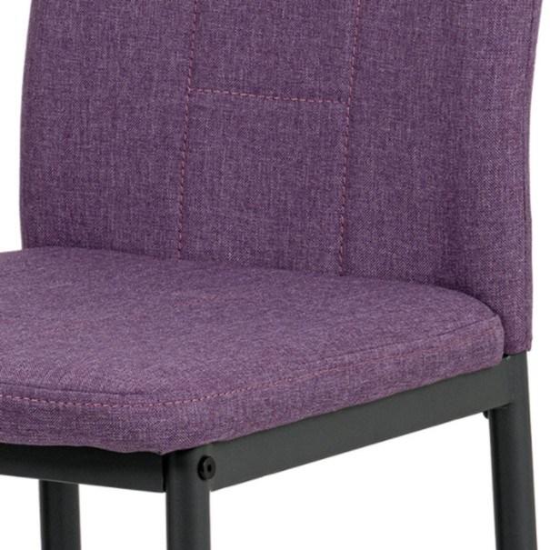 Jedálenská stolička LEILA fialová/antracit 6