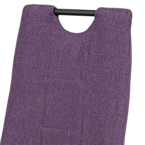 Jedálenská stolička LEILA fialová/antracit 8