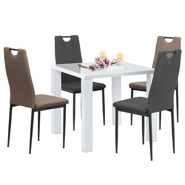 Jídelní židle LEILA šedá/antracitová 2