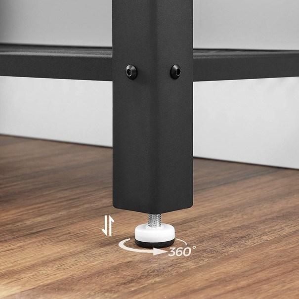 Přístavný stolek  LEIRA černá/hnědá 6