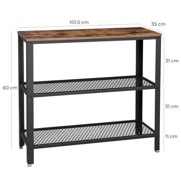 Přístavný stolek  LEIRA černá/hnědá 7