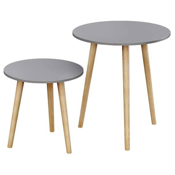 Přístavné stolky LET07 šedá 1