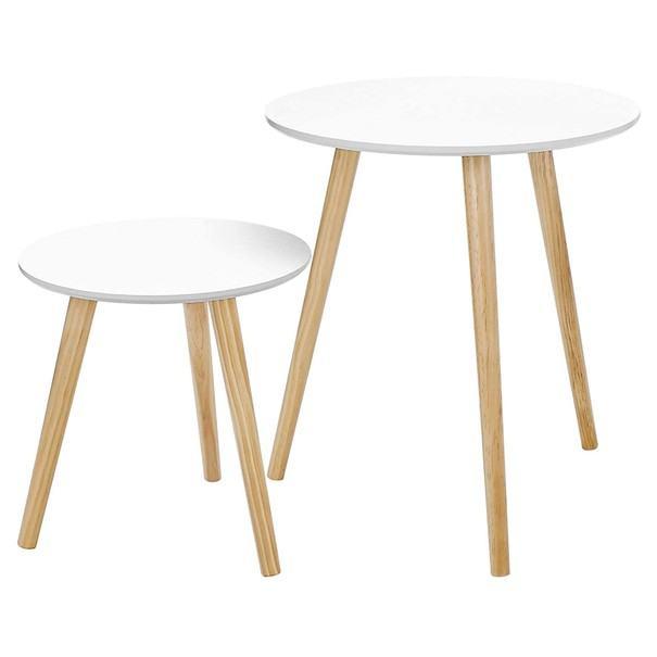 Přístavné stolky LET07 bílá 1