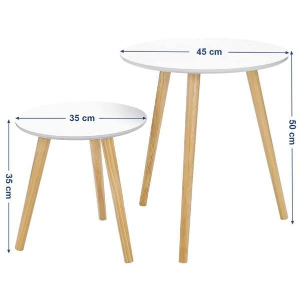 Přístavné stolky LET07 bílá 2