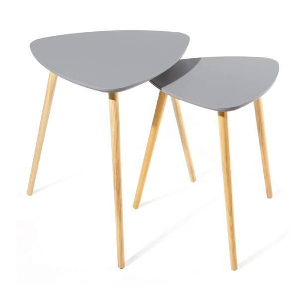 Prístavný stolík 2 ks LET17GY sivá 1