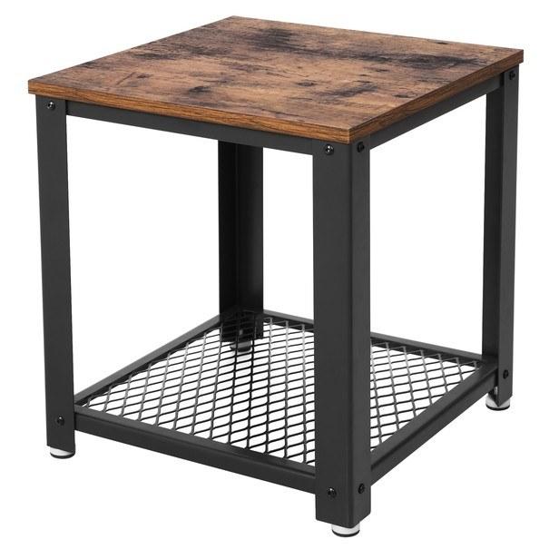 Sconto Přístavný stolek LET41X černá/přírodní - nábytek SCONTOnábytek.cz
