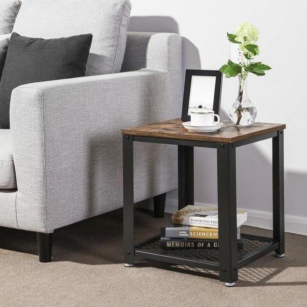 Přístavný stolek LET41X černá/přírodní 2