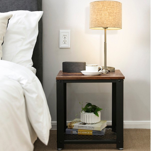 Přístavný stolek LET41X černá/přírodní 3