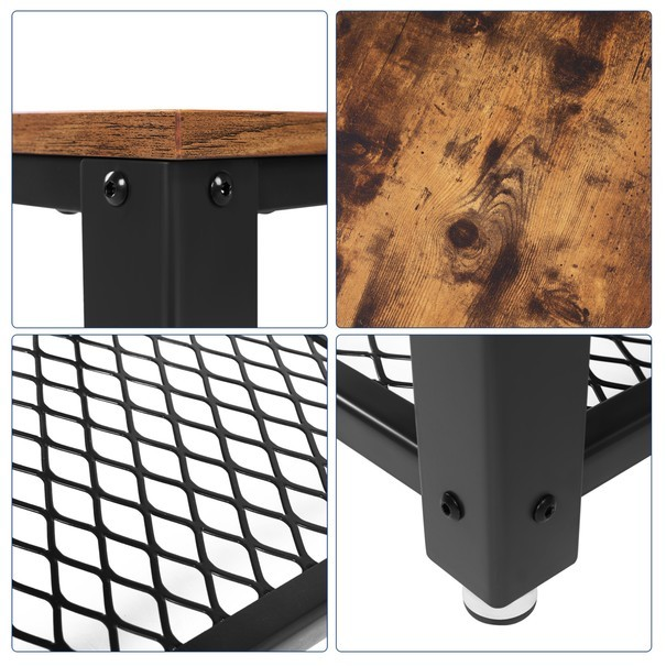 Přístavný stolek LET41X černá/přírodní 4