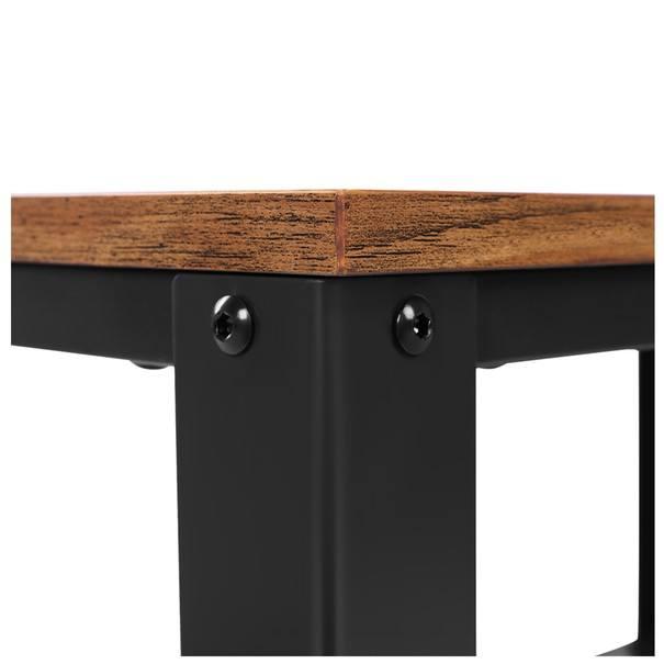 Přístavný stolek LET41X černá/přírodní 6
