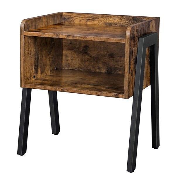 Přístavný stolek  LET54X černá/hnědá 1