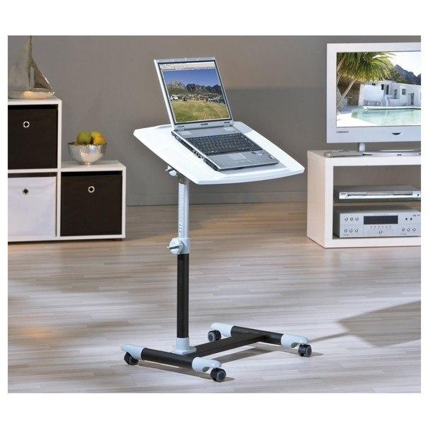 PC stůl LEXON bílá/černá 3