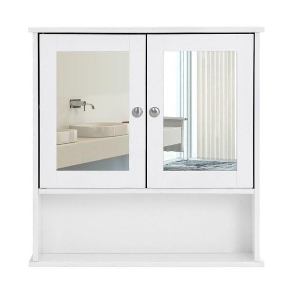 Kúpeľňová skrinka so zrkadlom LHC002 biela 7