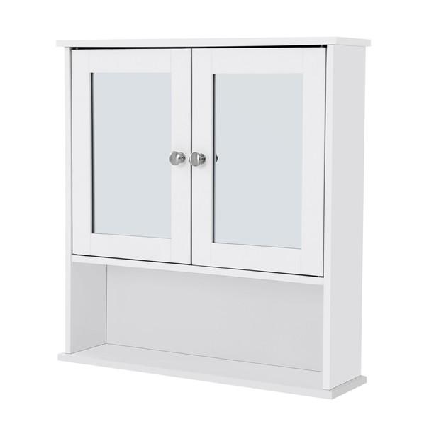 Sconto Koupelnová skříň se zrcadlem LHC002 bílá - nábytek SCONTO nábytek.cz
