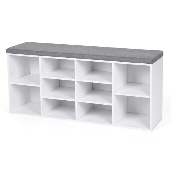 Lavice/botník LHS10WT bílá/šedá 1