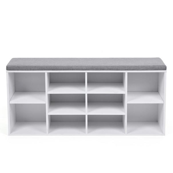 Lavice/botník LHS10WT bílá/šedá 3