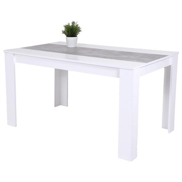 Sconto Jídelní stůl LILO bílá/beton - nábytek SCONTOnábytek.cz