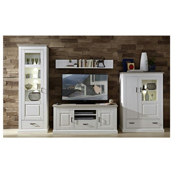 TV stolek LIMA 31 pinie/bílá 2