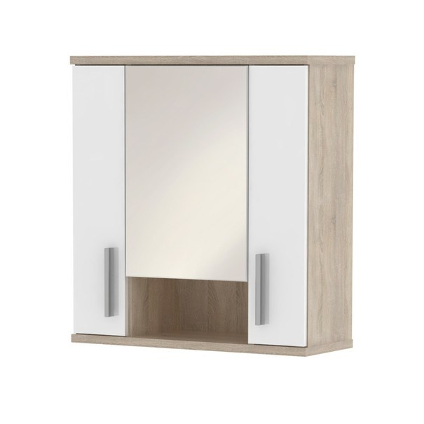Zrcadlová skříňka LINDA LI01 dub sonoma/bílá 1