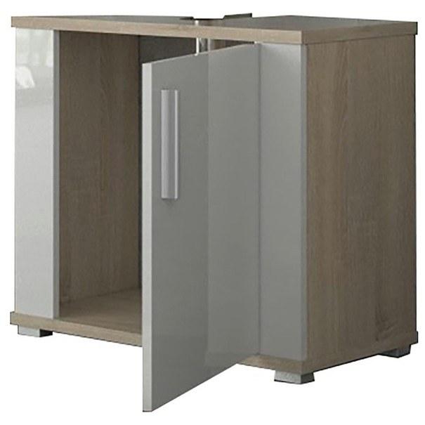 Umyvadlová skříňka  LINDA LI02 dub sonoma/bílá 2