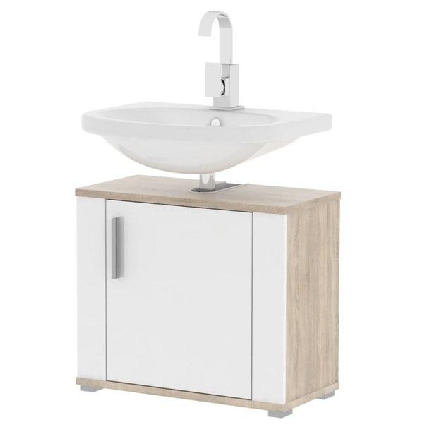 Umyvadlová skříňka  LINDA LI02 dub sonoma/bílá 1