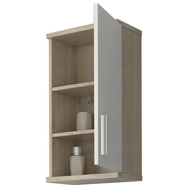 Závěsná skříňka LINDA LI04 dub sonoma/bílá pololesk 2