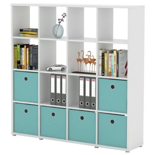 Regál/knižnica  LITE RM44 biela 1