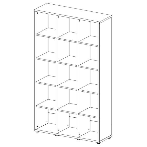 Regál/knižnica LITE RM53 biela 2