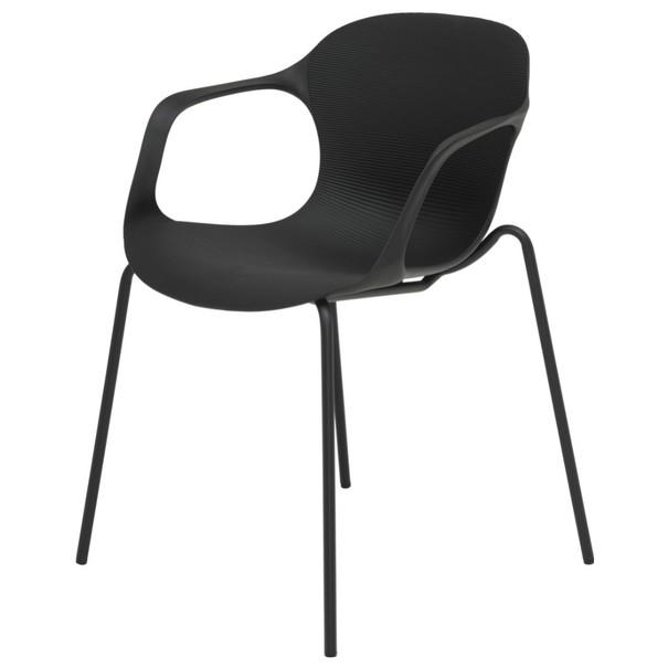 Jedálenská stolička LIV S čierna 1