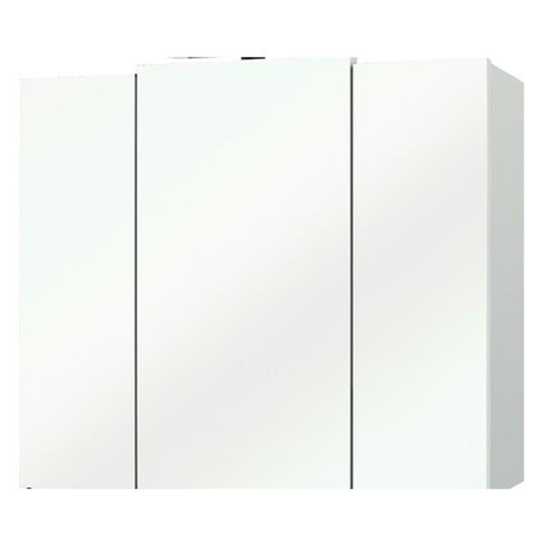 Sconto Zrcadlová skříňka LIVORNO II bílá/sklo