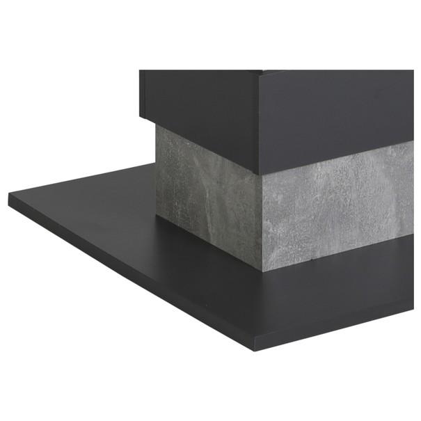 Jedálenský stôl LIZZY T betón/antracit 3