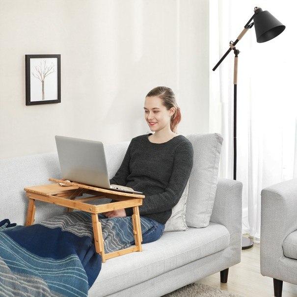 Stolek na laptop LLD01N bambus 2