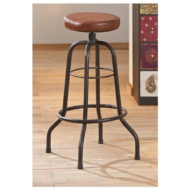 Barová židle LONDOS hnědá/černá 2
