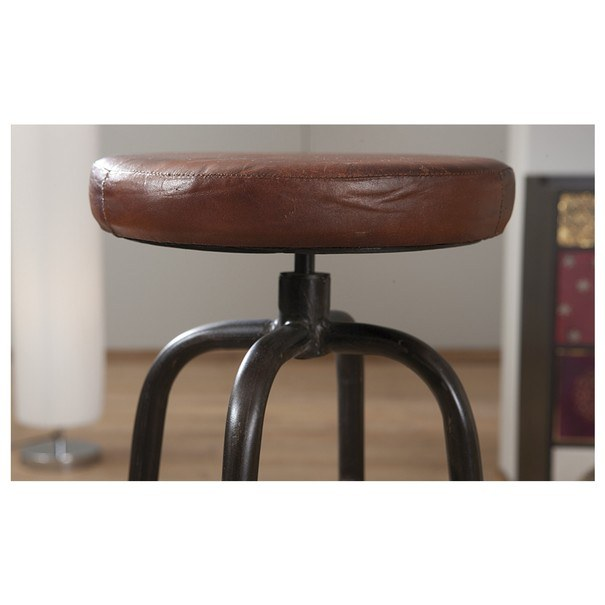 Barová židle LONDOS hnědá/černá 5
