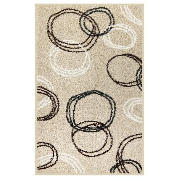 Koberec LOTTO 11 béžová s kruhovými vzory, 100x150 cm 1