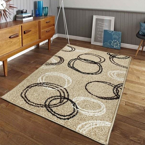 Koberec LOTTO 11 béžová s kruhovými vzory, 100x150 cm 2