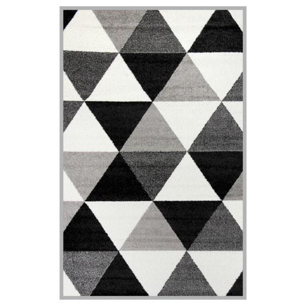 Sconto Koberec LOTTO 7 černobílá, 100x150 cm - nábytek SCONTO nábytek.cz