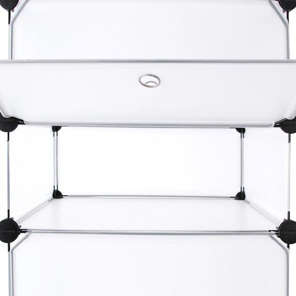 Regál LPC10W bílá/transparentní 14