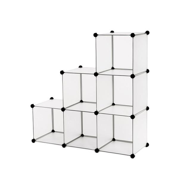 Regál LPC111S bílá/transparentní 1