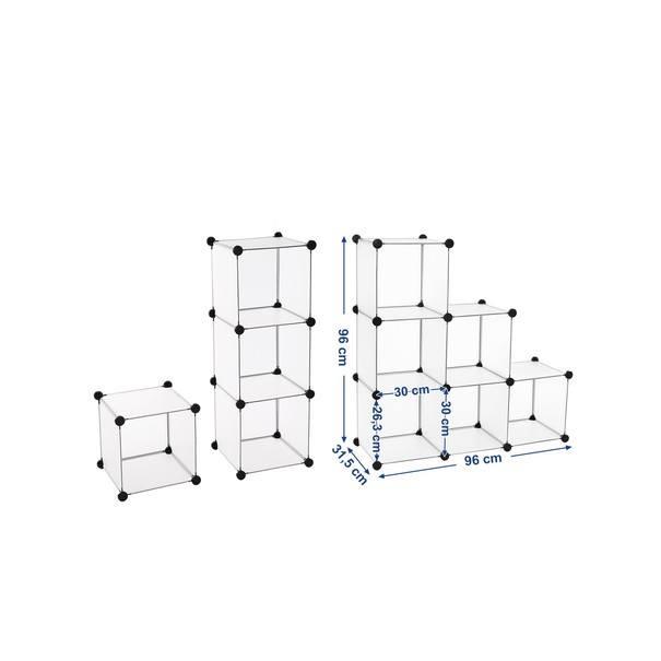 Regál LPC111S bílá/transparentní 6