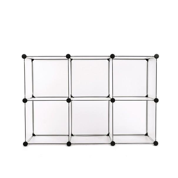Regál LPC111S bílá/transparentní 10